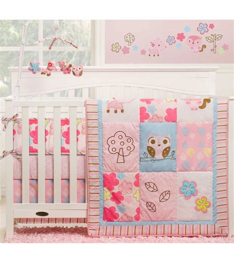 Graco Girl Woodland 4 Piece Crib Bedding Set By Kidsline Woodland Nursery Bedding Set
