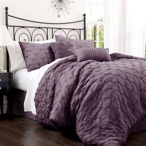 Purple Bed Comforter Sets by Black And Purple Comforter Sets Furnitureteams