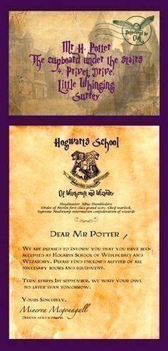 Hogwarts Acceptance Letter Editable Hogwarts Letter Customizable Editable By
