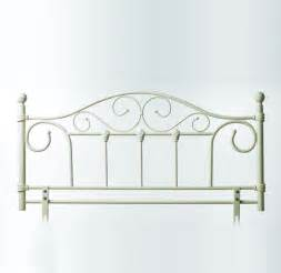 julie kingsize white metal headboard metal headboard