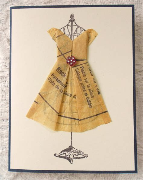 Origami Dress Pattern - vintage clothe pattern origami dress on wire dress form print