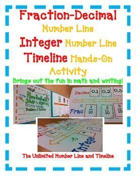 timeline activity book fraction decimal percent and integer number line plus timeline 4 activities decimal number