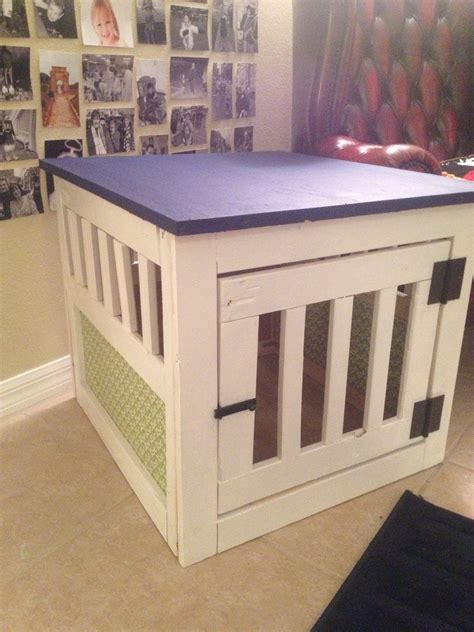 ana white dog kennel  table small diy projects