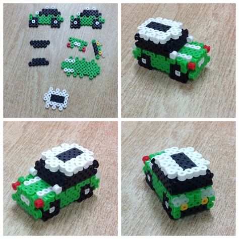 bead car 3d car perler by amanda collison hama