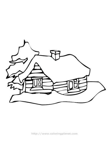 log house coloring page log cabin coloring page coloring home
