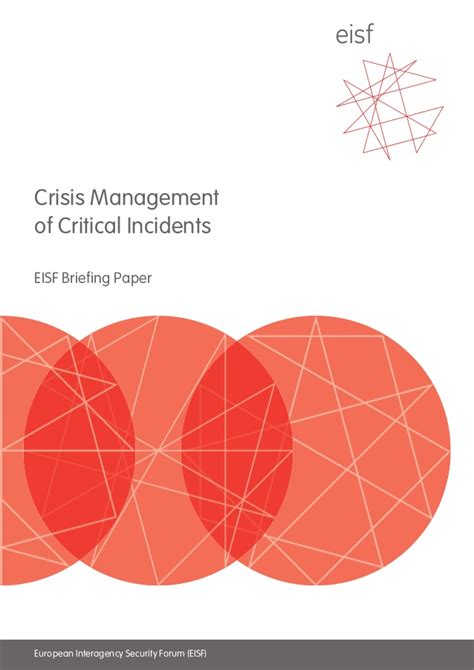 Mba In Self Management And Crisis Management by Crisis Management Of Critical Incidents
