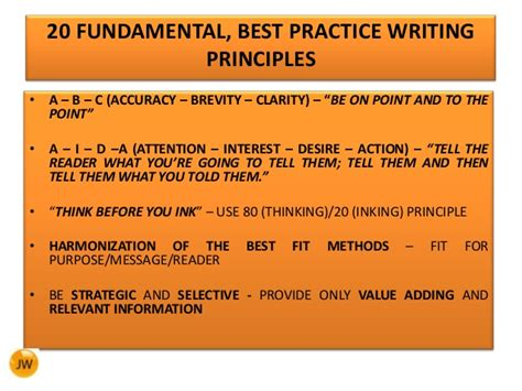 technical report writing best practice writing principles
