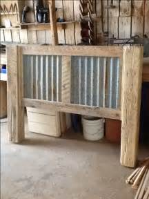 Western Bed Frame Designs A Rustic Bed Frame With Rusted Corrugated Tin As The Inset