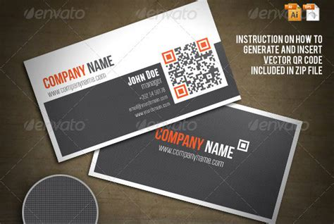 Free Business Card Template With Qr Code by 25 Qr Code Business Card Templates Web Graphic Design