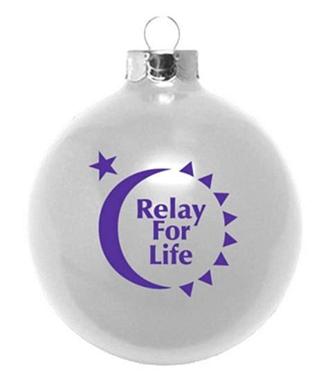 relay for life fundraiser christmas ornaments