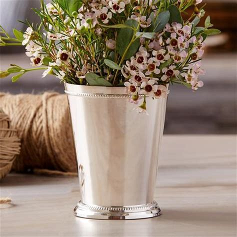 Silver Mint Julep Vases View All Home Decor Accents Vases Photo Frames Amp More