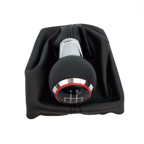 5 Gear 6 Speed Manual Mt Car Shift Gear Knob With Leather