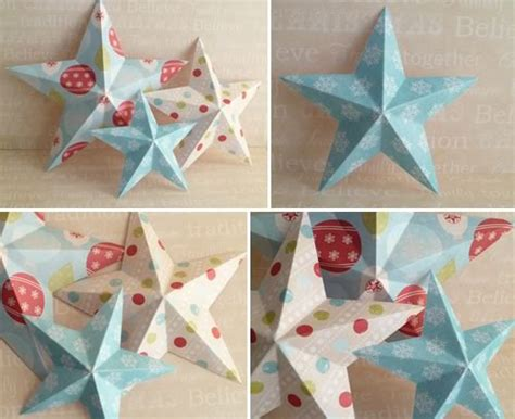 how to make a 3 d star christmas ornament out of paper