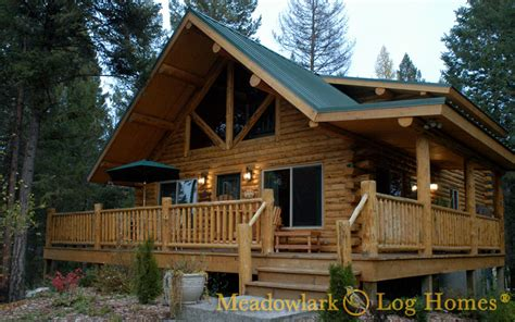 chalet houses log chalets meadowlark log homes