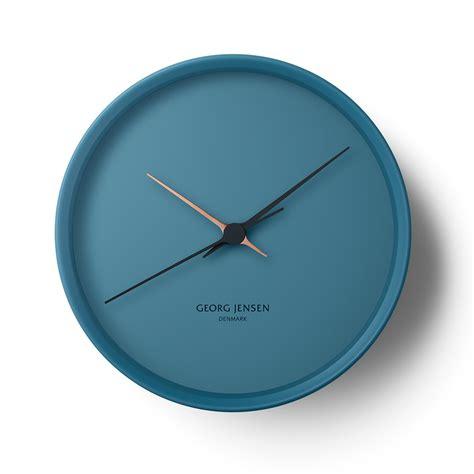 horloge murale bleue horloge murale hk bleue henning koppel georg royaldesign fr
