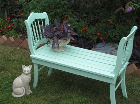 upcycled garden bench garden bench upcycled from 2 chairs gardening outdoor