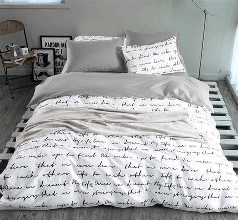 comforter sets made in usa letter printing duvet cover sets king activity bedding