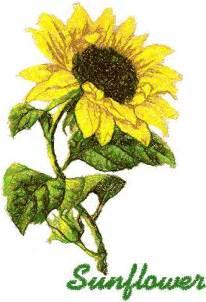 Ideas Design Advanced Embroidery Designs Sunflower