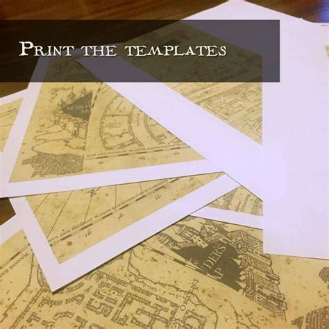 Sorting Hat Place Cards Template by Marauder S Map Template Harry Potter And