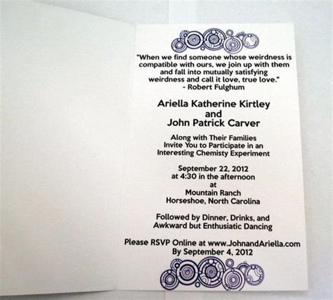 Doctor Who Wedding Invitations Google Search Geek Wedding Ideas Pinterest Receptions Dr Geeky Wedding Invitation Templates