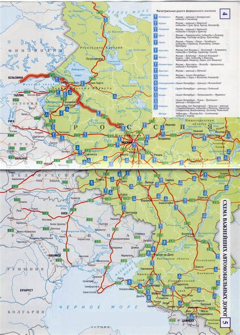 russia map europe large detailed road map of the european part of russia in