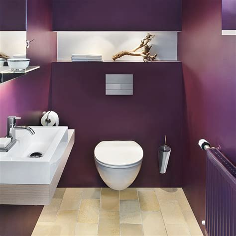 Kleines Bad Farbe wandgestaltung badezimmer fliese bis farbe my