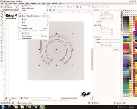 tutorial corel draw x4 membuat spanduk tutorial membuat logo menggunakan coreldraw x4 12 000