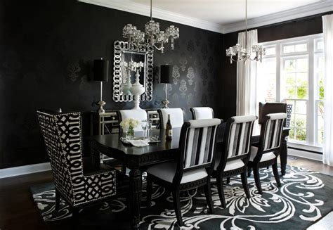 Black And White Dining Room Chairs Black And White Dining Chairs Upholstered Dining Room Contemporary With White Drapes Black