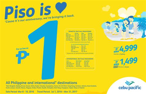 philippine contests promos giveaways sales and - Piso Fare Cebu Pacific