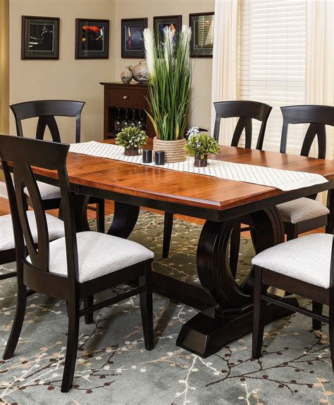 saratoga trestle table amish direct furniture