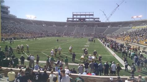 notre dame section notre dame stadium section 35 rateyourseats com
