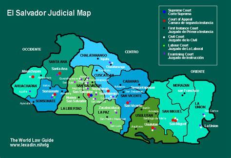 map of el salvador impressum
