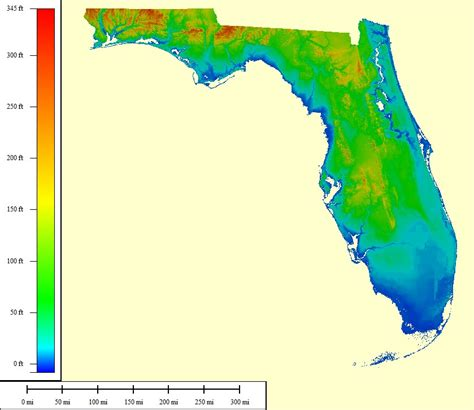 elevation map of florida topocreator create and print your own color shaded