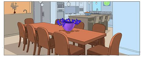 cartoon dining room animation backgrounds on behance