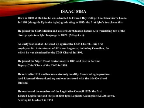 Meaning Of Mba In Igbo by 30 Igbo Pioneers In History