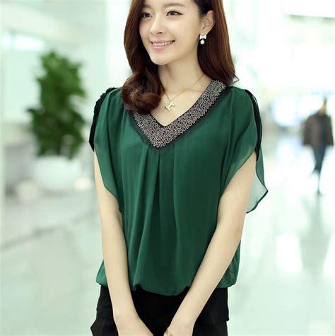 Blouse Wanita Garlique Black Amadora Top blusas femininas 2015 summer blouses upscale chiffon
