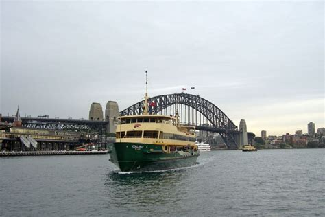 boat transport sydney to perth manly ferry approaching circular quay in sydney abc