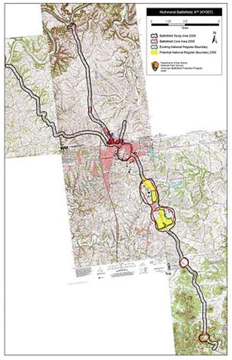 kentucky map linking study battle of richmond