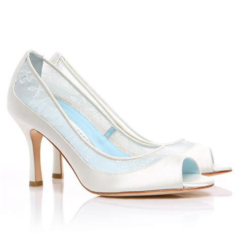 Dyeable Wedding Shoes by Dyeable Lace Wedding Shoes Low Heel White Peep Toe