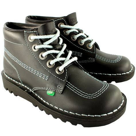 Kickers Boot 1 unisex youth kickers kick hi back to school leather boots shoes uk 3 6 ebay