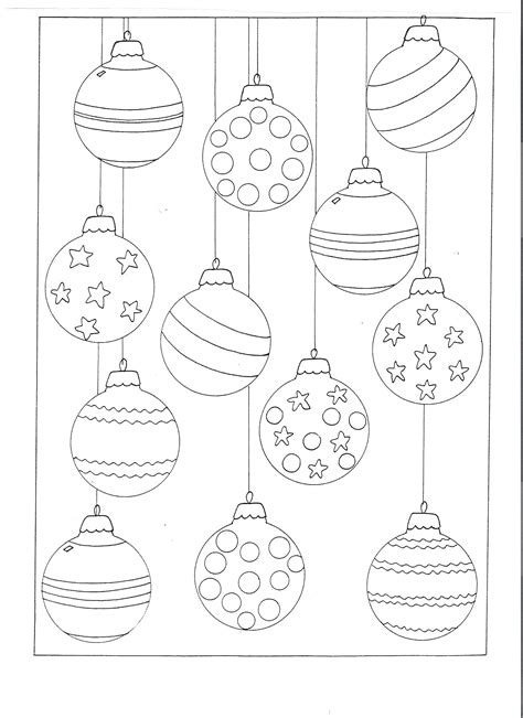 color your own christmas ornaments printable coloring