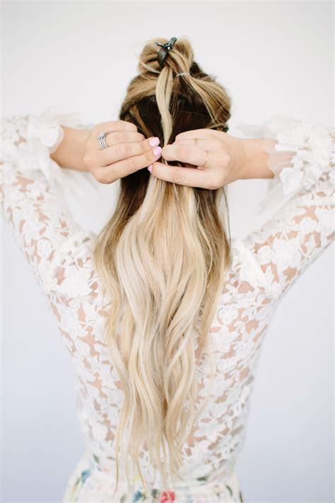 darling ponytail hair pull through braid tutorial dash of darling