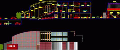 auditorio cortes dwg block  autocad designs cad