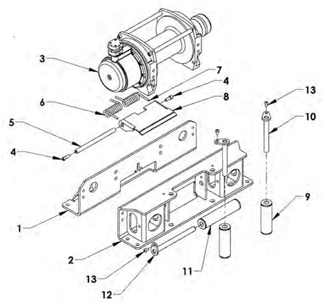 warn m8000 winch wiring schematics warn wench 10000 model