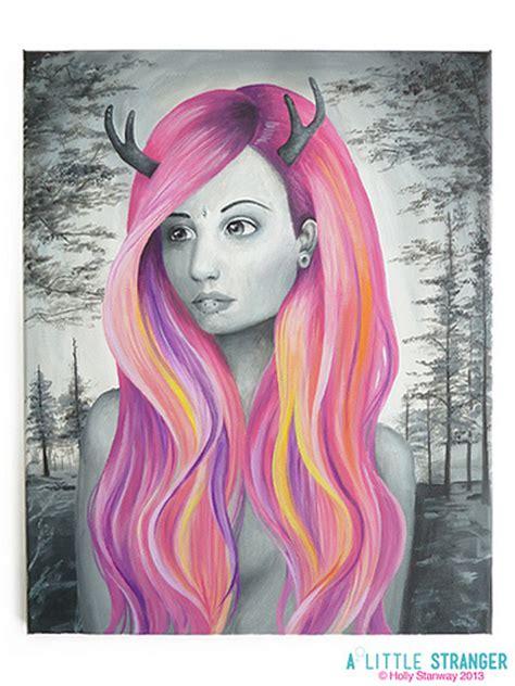 acrylic painting hair hair acrylic on canvas my painting