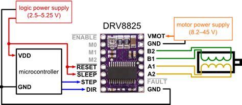 arduino code drv8825 drv8825 stepper driver wantai motor makes noise but no