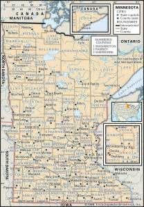 map of cities and counties state and county maps of minnesota