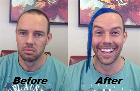 hair extensions for men before and after before and after shane hair extension tape