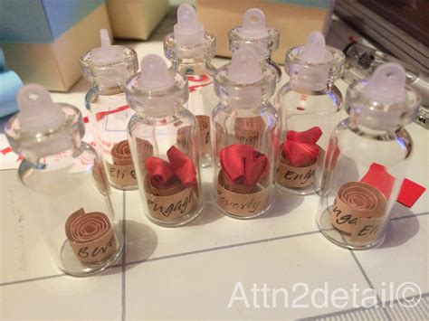 Birthdays Giveaways Ideas - personalized small bottle engagement party giveaways souvenirs favors attn2detail