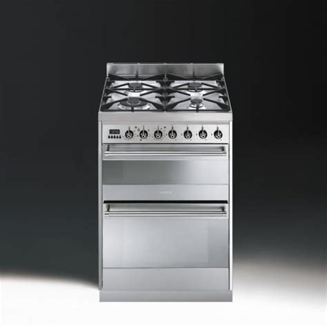 Oven Gas Ukuran 60 Cm smeg symphony sy62mx8 dual fuel 60cm oven cooker stainless steel with chrome trim